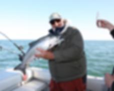 Salmon charters on Lake Ontario
