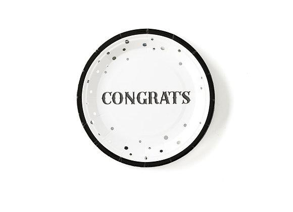 "7"" Congrats Plate"