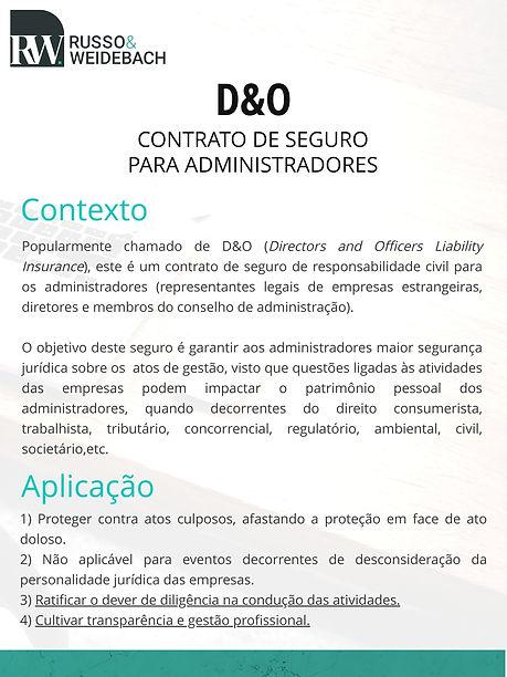 texto sobre o contrato de seguro para administradores