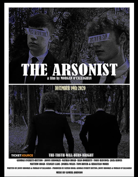Split poster. Bottom: Detectives Harvey and Alex walking away from the camera. Top: Harvey and Alex close up, with 'Police line do not cross' tape over their eyes.