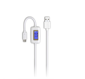 USB cable with digital display