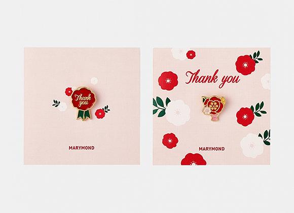 フラワー感謝カード・バッジセット