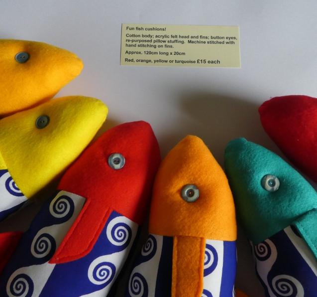 Fun Fish Cushions £15 each
