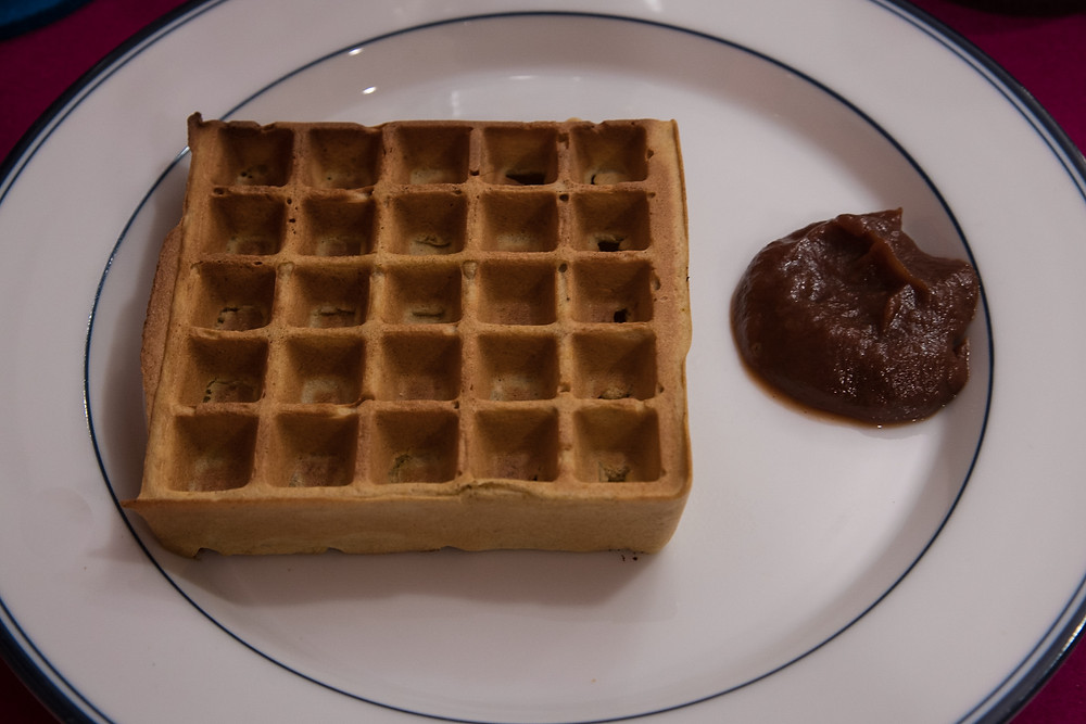 Waffles with apple butter
