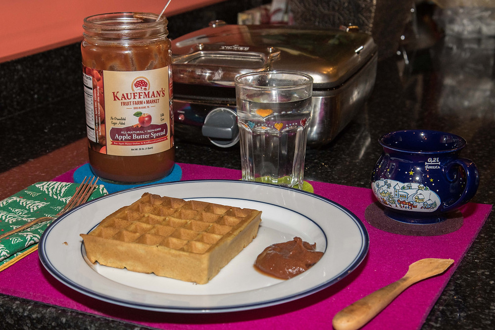 GF DF Waffles with Apple Butter