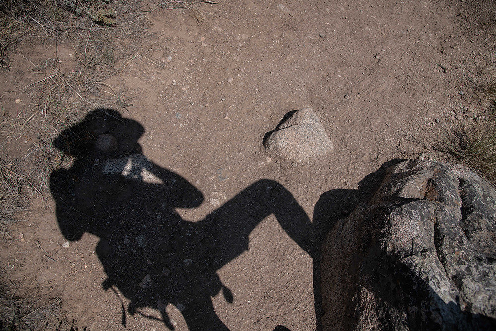 Self-portrait with heart stone, Wyoming
