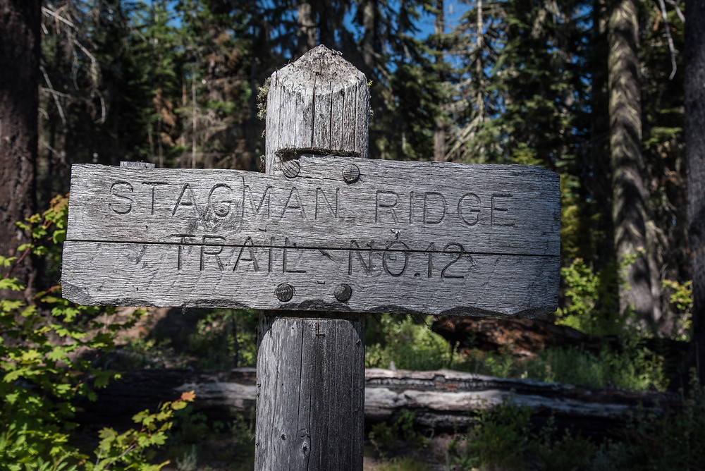 Stagman Ridge Trail sign
