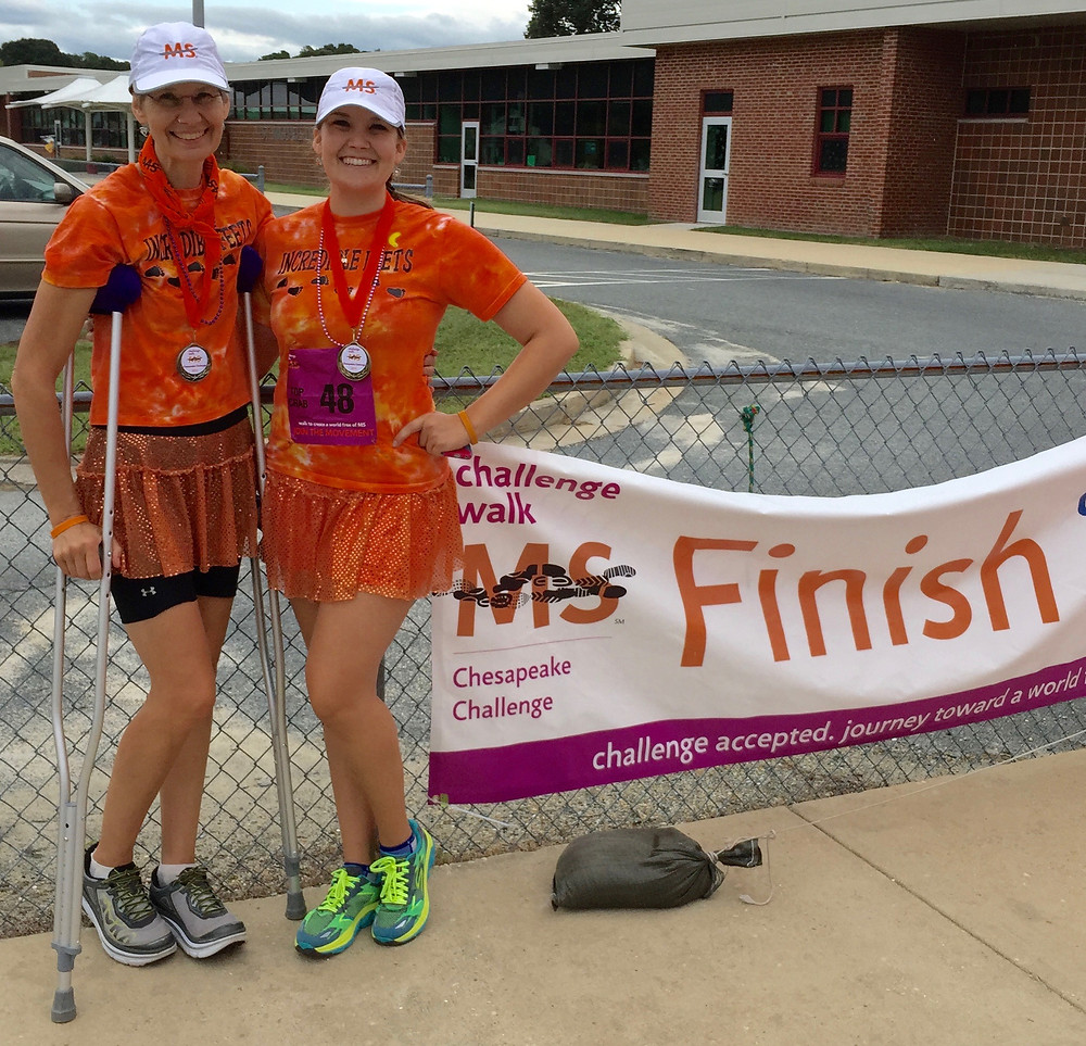 Dotty and Helen-Chesapeake Challenge Walk MS 2015