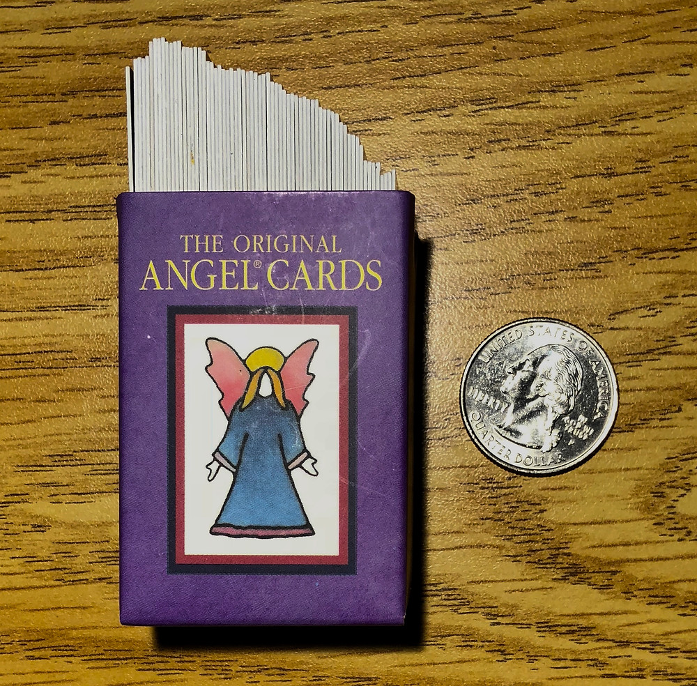 Angel Cards-shown in proportion to quarter