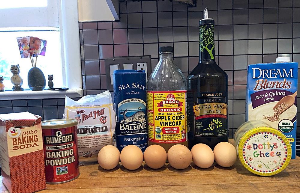 Ingredients for GF DF SF YF bread
