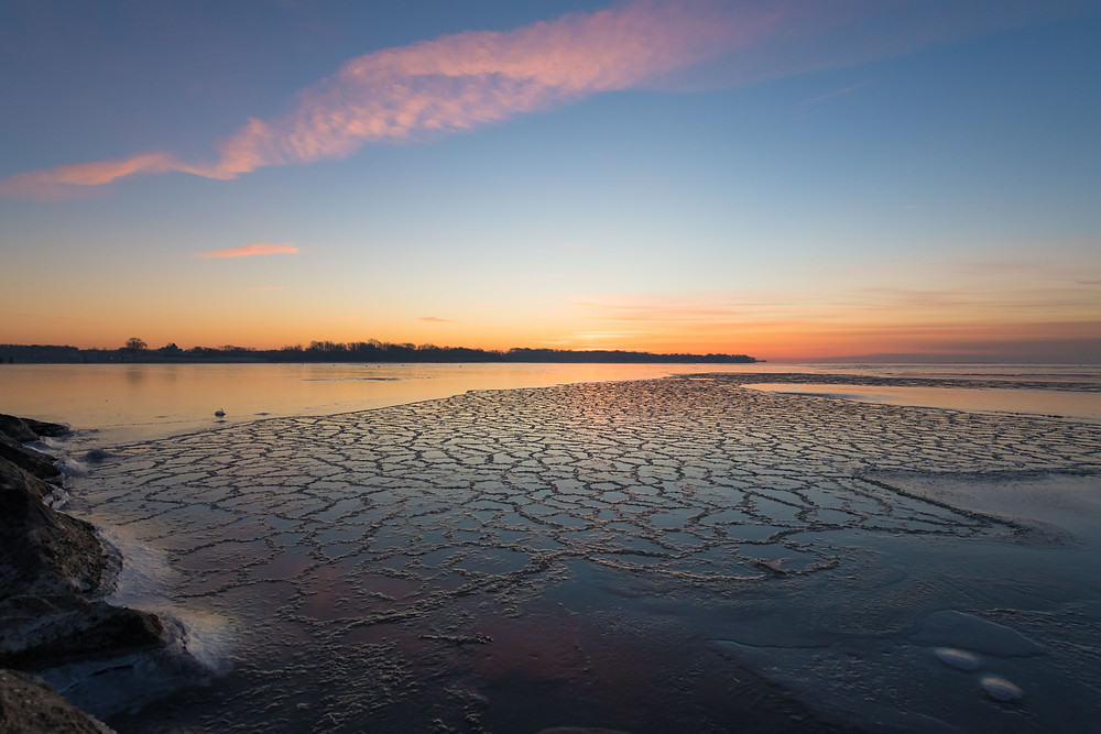 Iced over at Sunrise. Annapolis, MD
