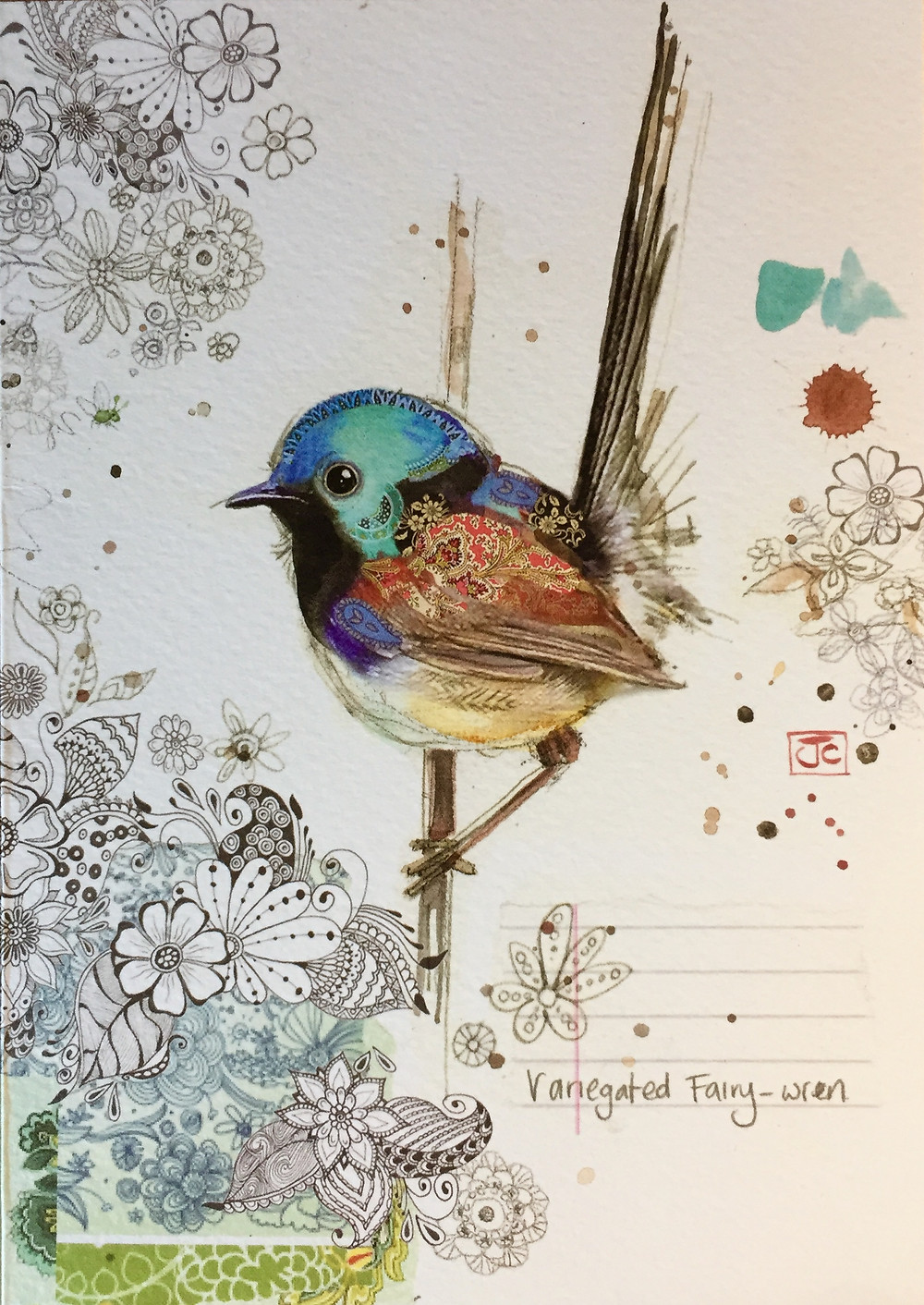 Fairy Wren card