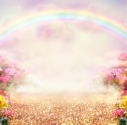 Fantasy panoramic photo background with