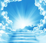 Stairway to Heaven.Stairs in sky.  Conce