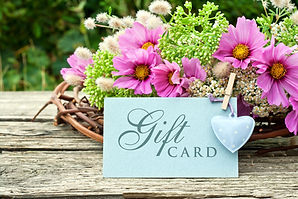 pink flowers with gift card/gift card/fl