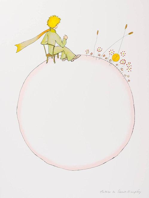 Le Petit Prince et le coucher de soleil