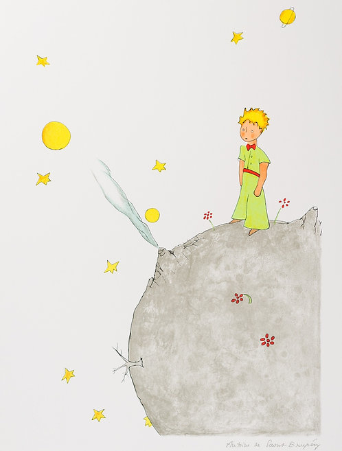 Le Petit Prince sur l'astéroïde B-612