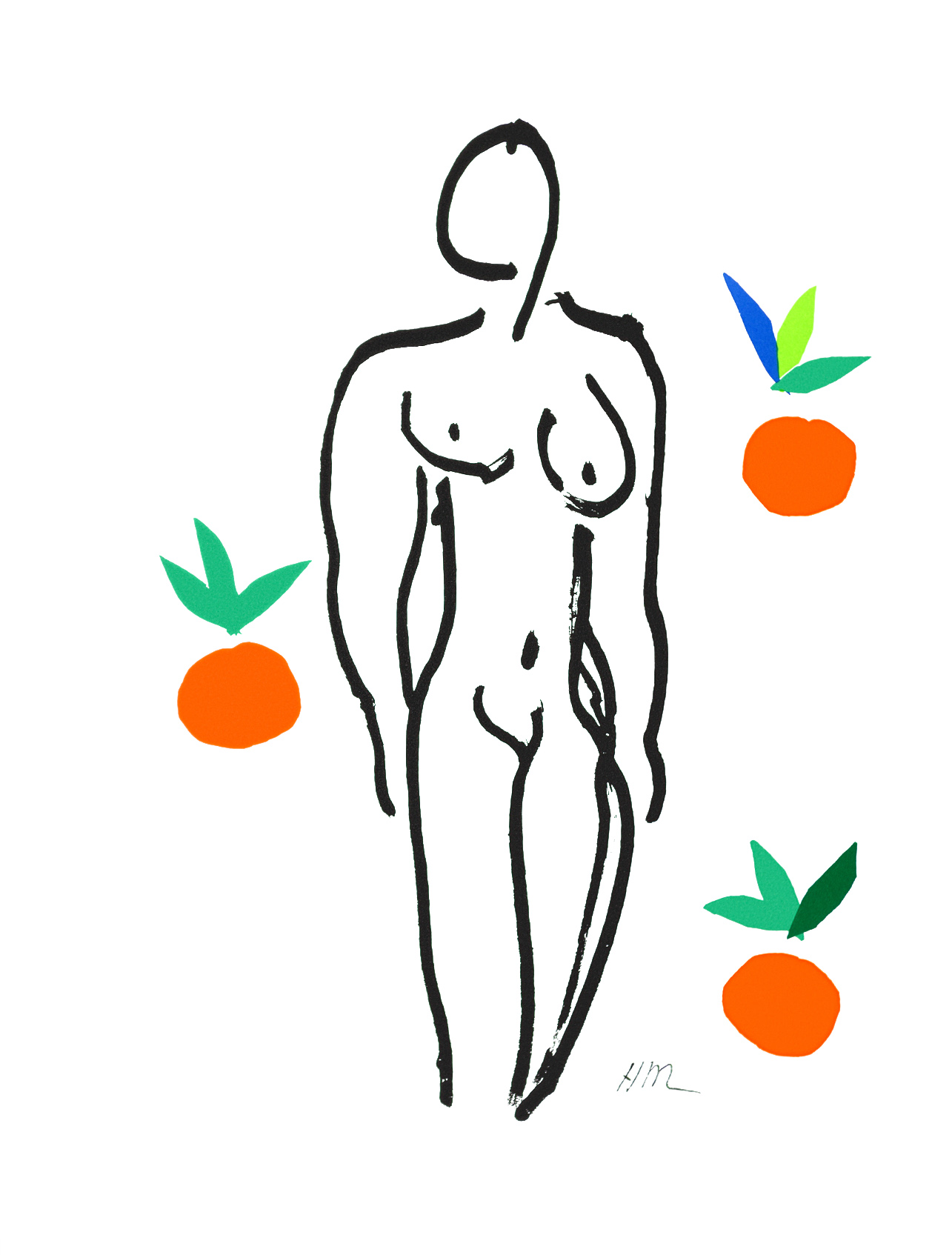 MATISSE - Nu aux oranges