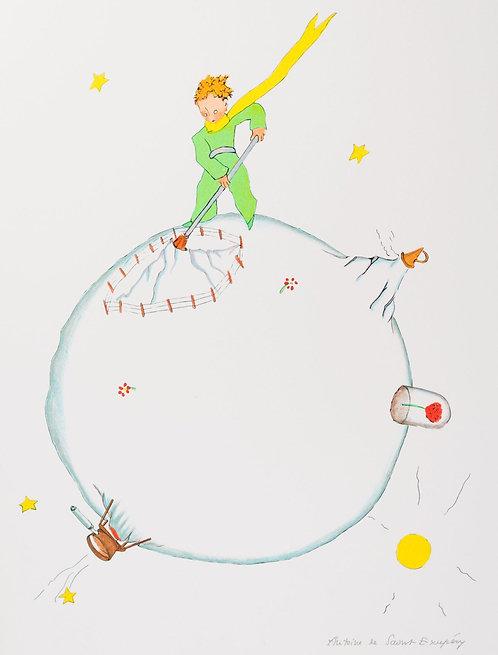 Le Petit Prince et le volcan