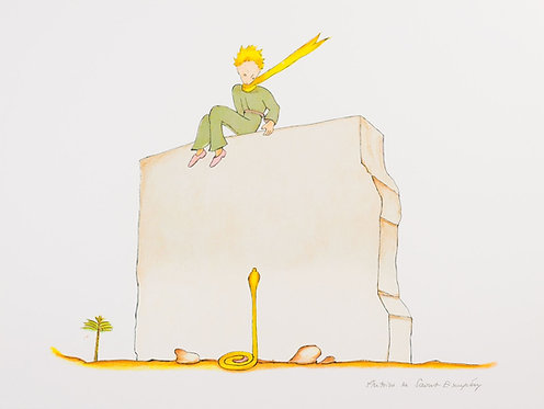 Le Petit Prince et le serpent (The Little Prince And The Snake at the Wall)