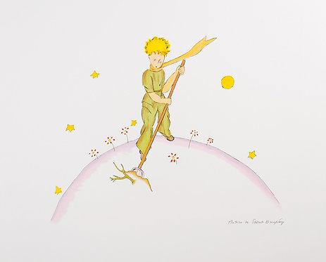 Le Petit Prince sur sa planète (The Little Prince On His Planet)