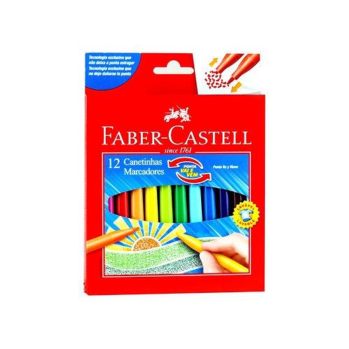 3 - Faber Castell - 12 cores ponta vai e vem