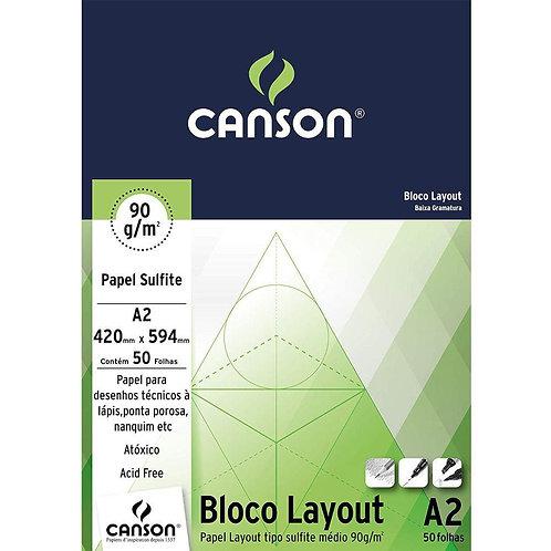 BLOCO US LAYOUT A2 90GR C/ 50FL CANSON