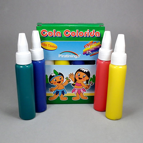 3 - Cola Colorida Pirantininga 4 cores