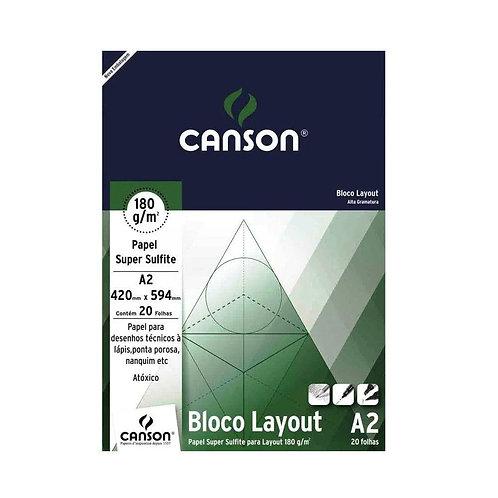 BLOCO LAYOUT A2 180GR C/ 20FL CANSON