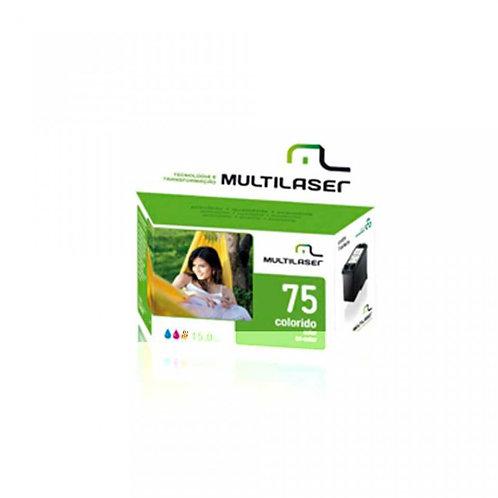 Cartucho 75 XL Color Multilaser