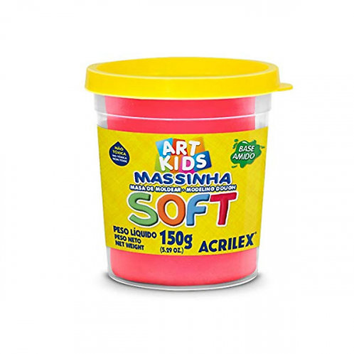 Massinha Soft Acrilex 150g Vermelho