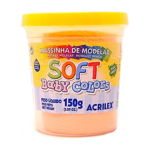 Massinha Soft Acrilex 150g Salmão Bebe