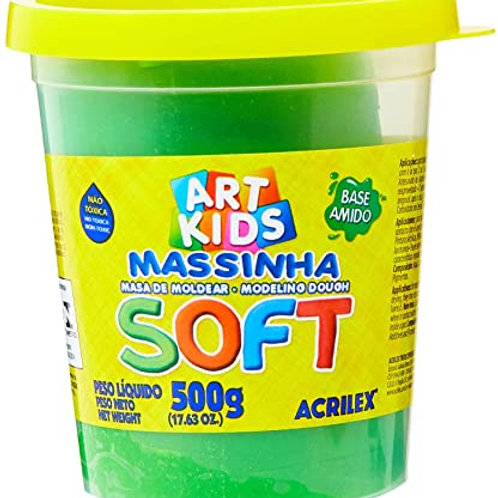 Massinha Soft Acrilex 500g  Verde