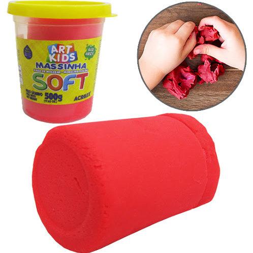 Massinha Soft Acrilex 500g Vermelha