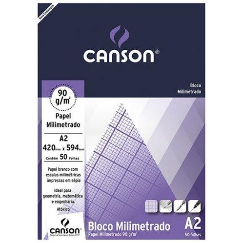 BLOCO MILIMETRADO A2 90GR C/ 50FL CANSON