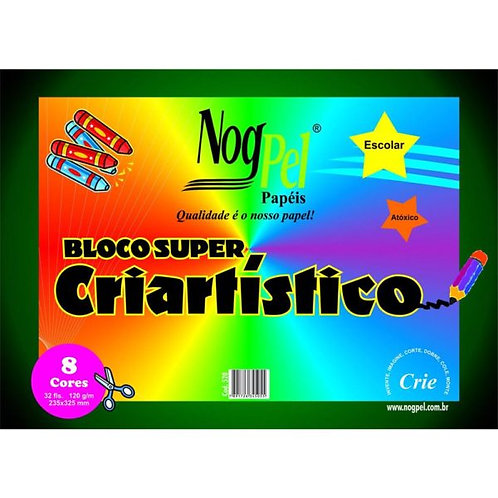 BLOCO SUPER CRIARTISTICO 120 GRS 32FLS NOGPEL