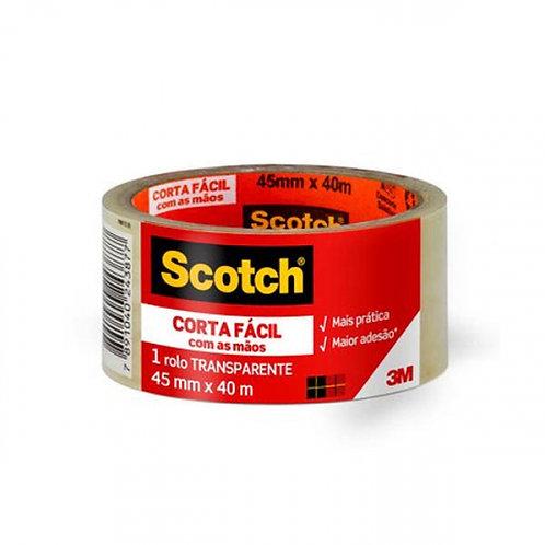 Fita adesiva corta fácil Scotch 45mm X 40m Transparente