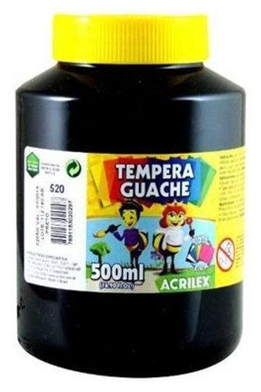 Tinta Guache preta Acrilex 500ml