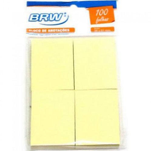 Bloco de anotação 4 unidades BRW