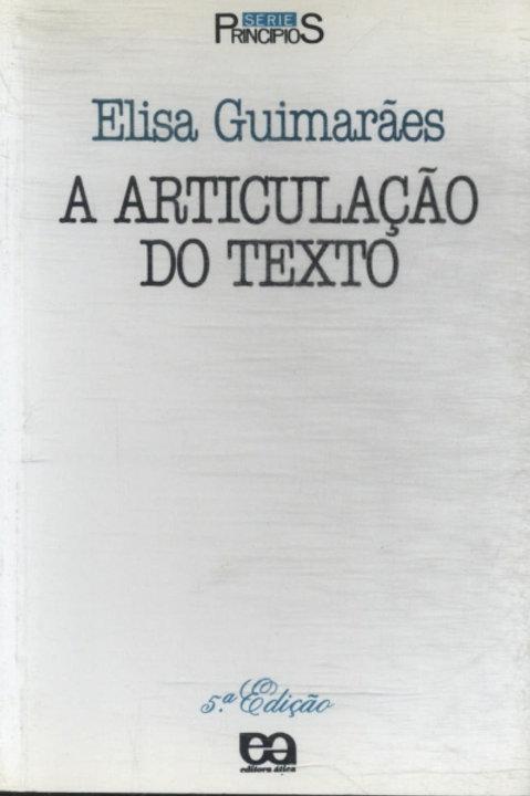 A articulação do texto