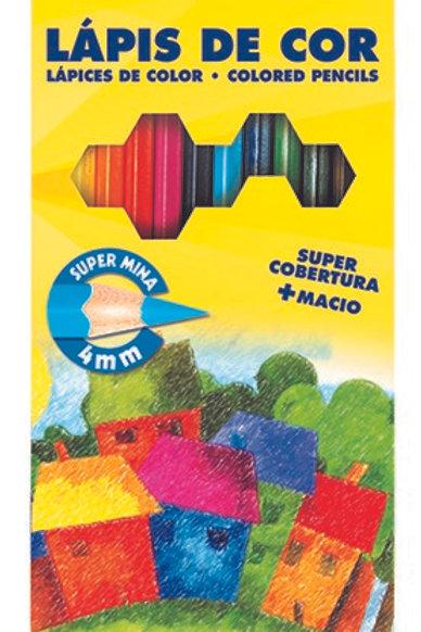 Lápis de Cor Acrilex 12 cores