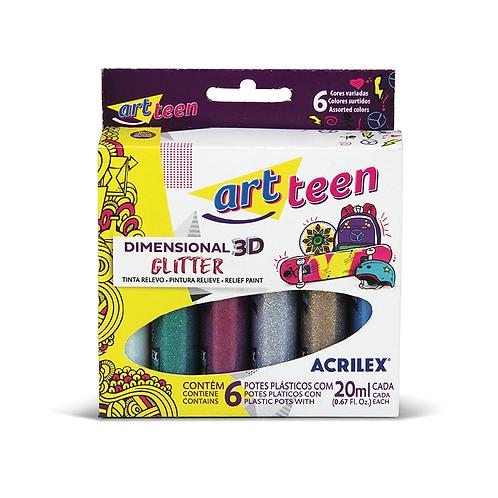 Cola Dimensional 3d Acrilex 6 cores