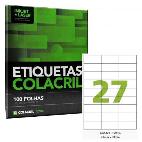 Etiqueta adesiva Colacril CA4370
