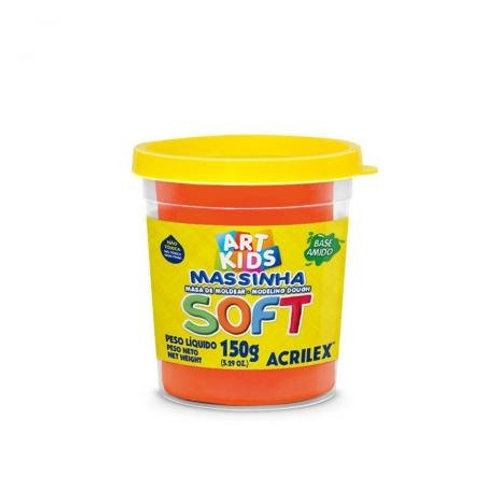 Massinha Soft Acrilex 150g Laranja