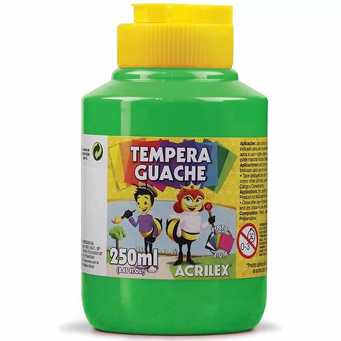 Tinta Guache verde folha Acrilex 250ml