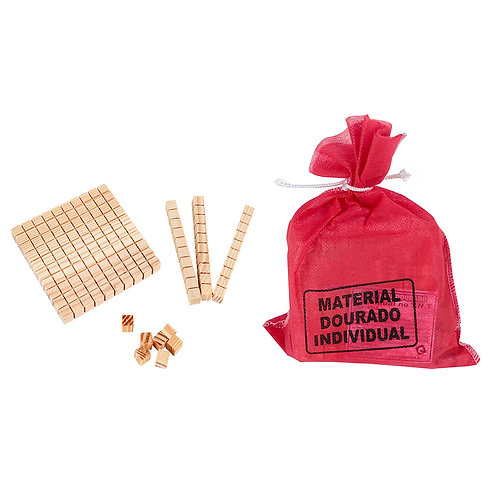 Material Dourado 111 pcs saco