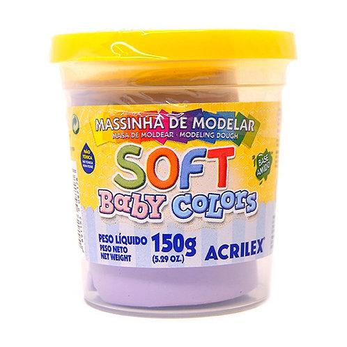 Massinha Soft Acrilex 150g Lilás Bebe