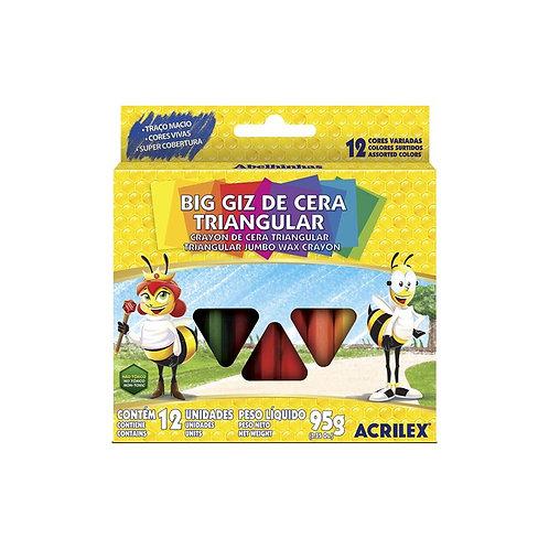 Giz de Cera Triangular Acrilex 95g