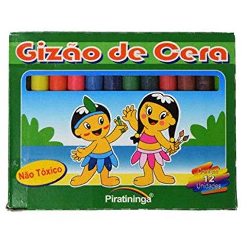 Gizão de Cera 12 cores Piratininga