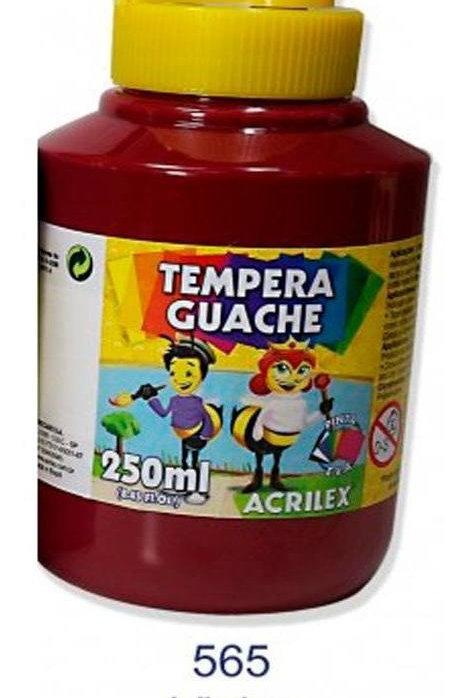 Tinta Guache vinho Acrilex 250ml